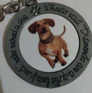 Jewelry - Dog Dachshund Keychain or Purse Accessory